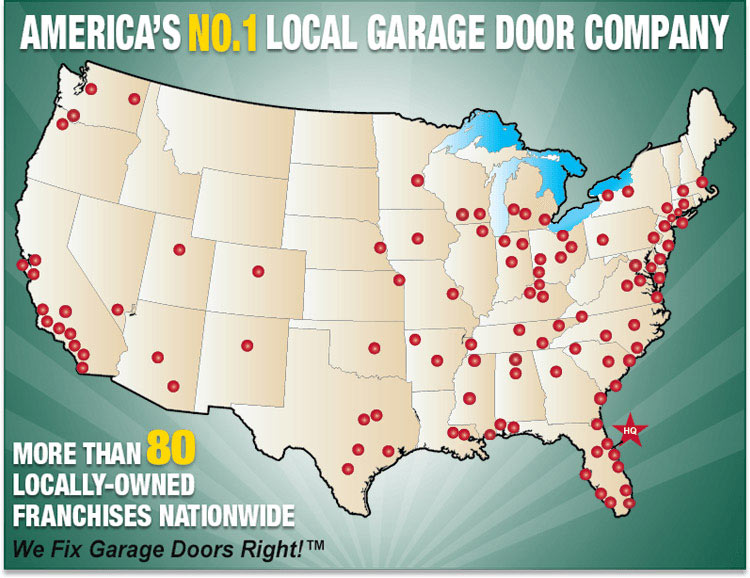 High Quality Precision Garage Door Coverage Map